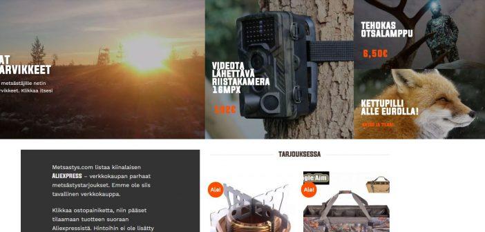 Metsastys.com on erilainen verkkokauppa
